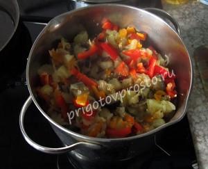 Солянка овощная тушеная