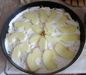 тыква с яблоками в духовке