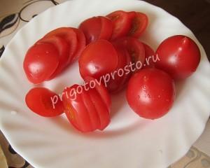 рулет из баклажанов с помидорами