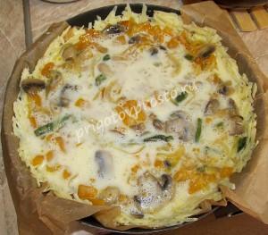 тыквенная запеканка с сыром