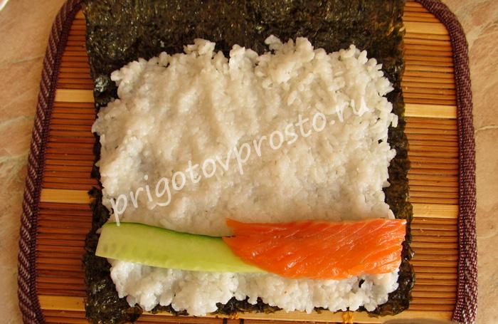 фото рецепт приготовления роллов