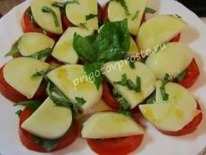 как приготовить салат капрезе