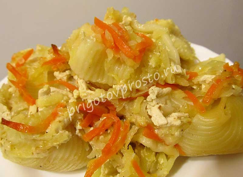 Фаршированные макароны-ракушки в духовке