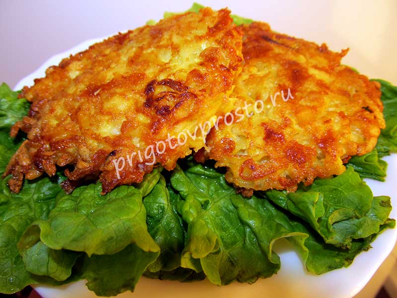 картофельные драники без яиц