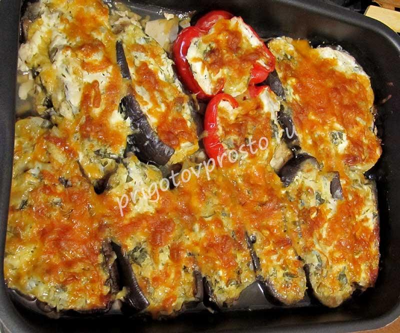 Баклажаны-лодочки запеченные в духовке