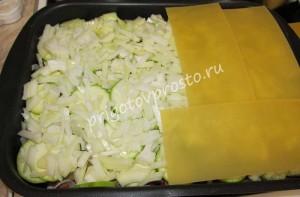 Овощная лазанья с кабачками и баклажанами