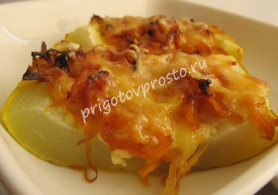 кабачки с адыгейским сыром в духовке