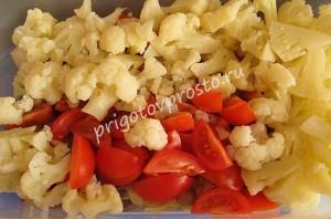 Салат из отварной цветной капусты