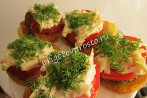 соте из баклажанов и помидоров