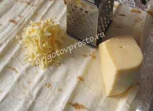 Лаваш запеченный с сыром