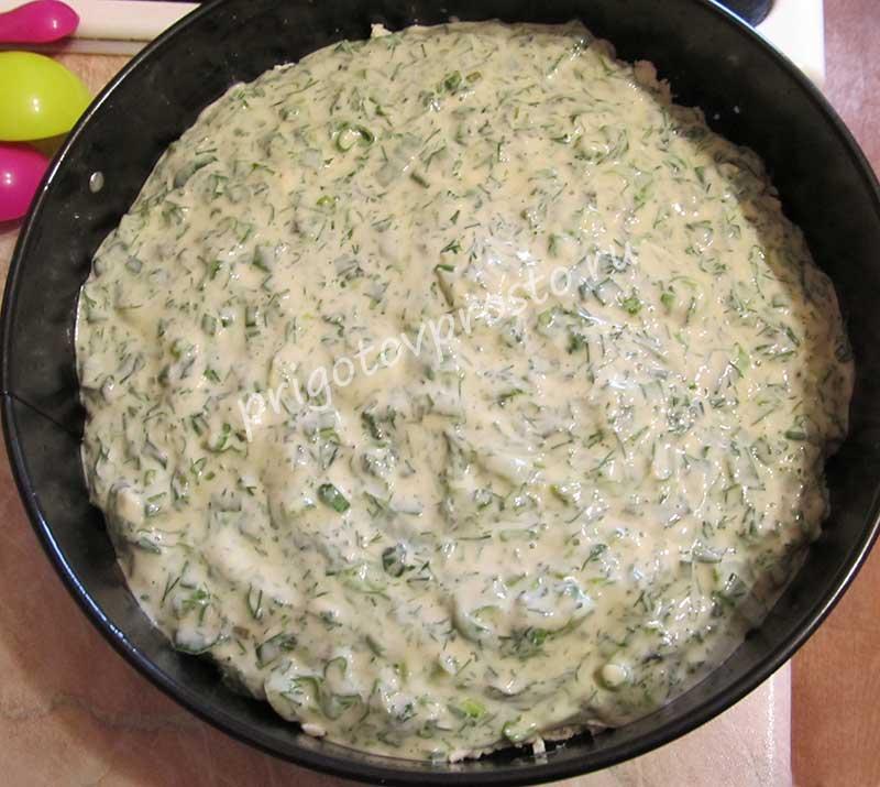 пирог с адыгейским сыром и зеленью