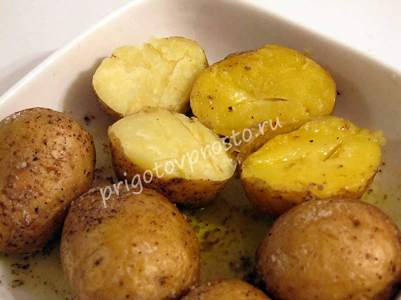 как приготовить картошку в микроволновке в мундирах