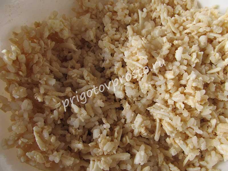 Кабачки запеченные в духовке с рисом
