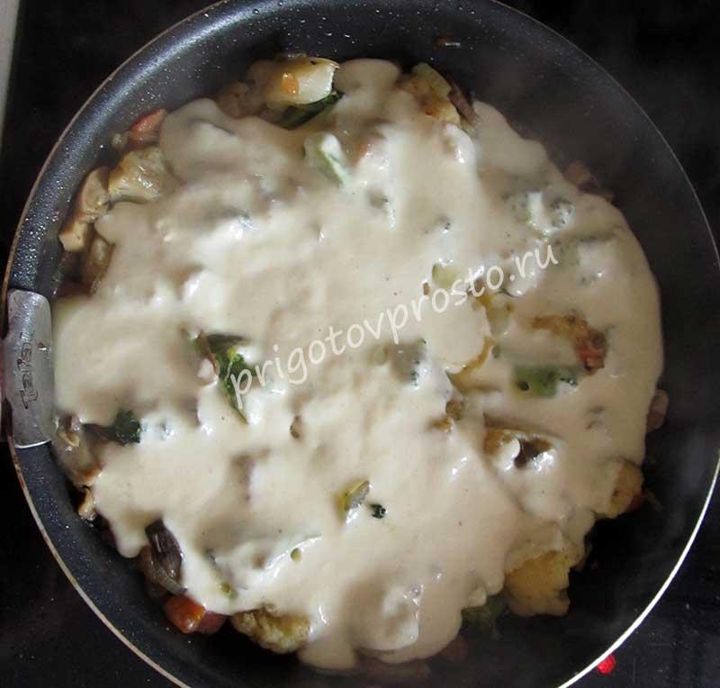 постный овощной омлет