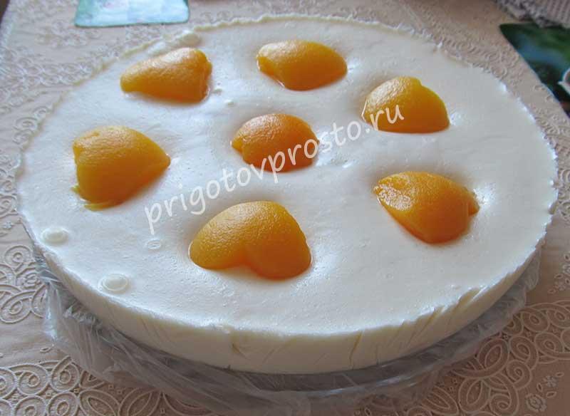Торт без выпечки суфле с фруктами рецепт 91