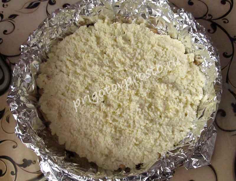 торт из печенья без выпечки с бананом