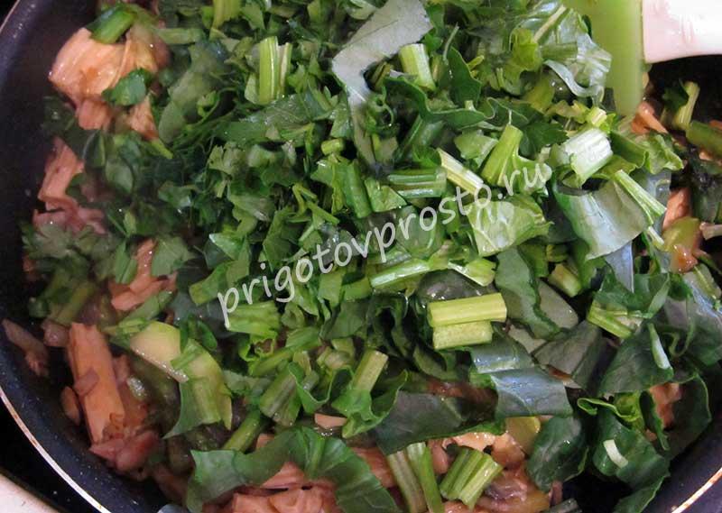 соевая спаржа с овощами