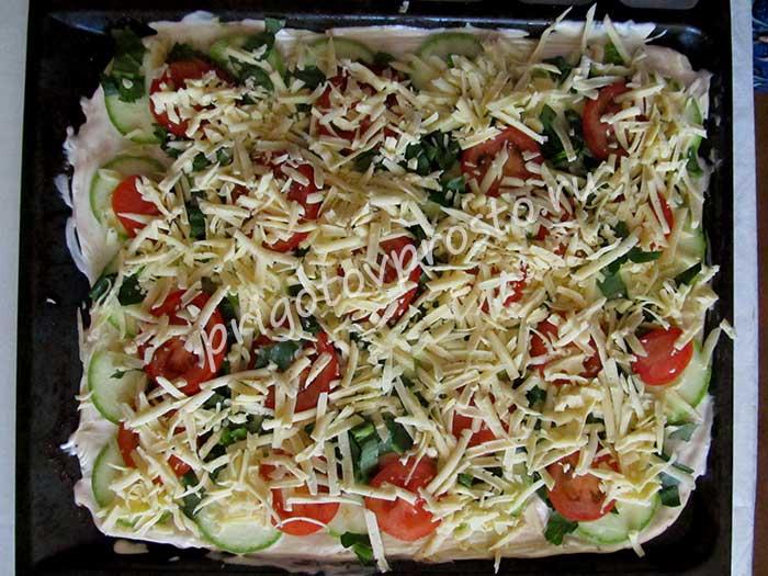 пицца вегетарианская домашняя