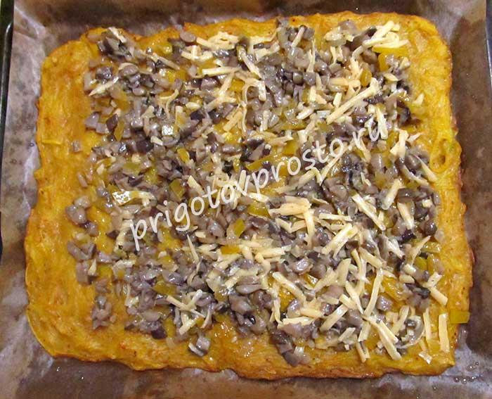 кабачковый рулет с грибами