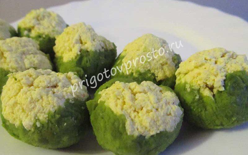 закуска из тофу и зелёного горошка