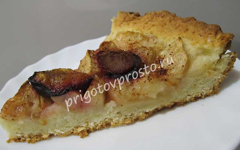 простой сливовый пирог
